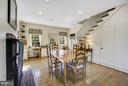 Breakfast Room w/ Rear Stair & FP - 601 & 607 ORONOCO ST, ALEXANDRIA