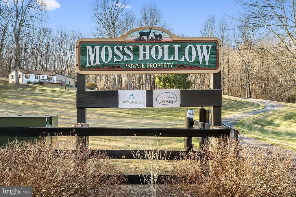 Camp Moss Hollow Welcome Sign - 12494 MOSS HOLLOW RD, MARKHAM