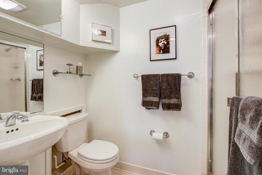Lower Level full bath - 7013 EXFAIR RD, BETHESDA