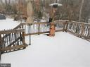 Rear Deck Overlooks Private Backyard - 91 MT HOPE CHURCH RD, STAFFORD