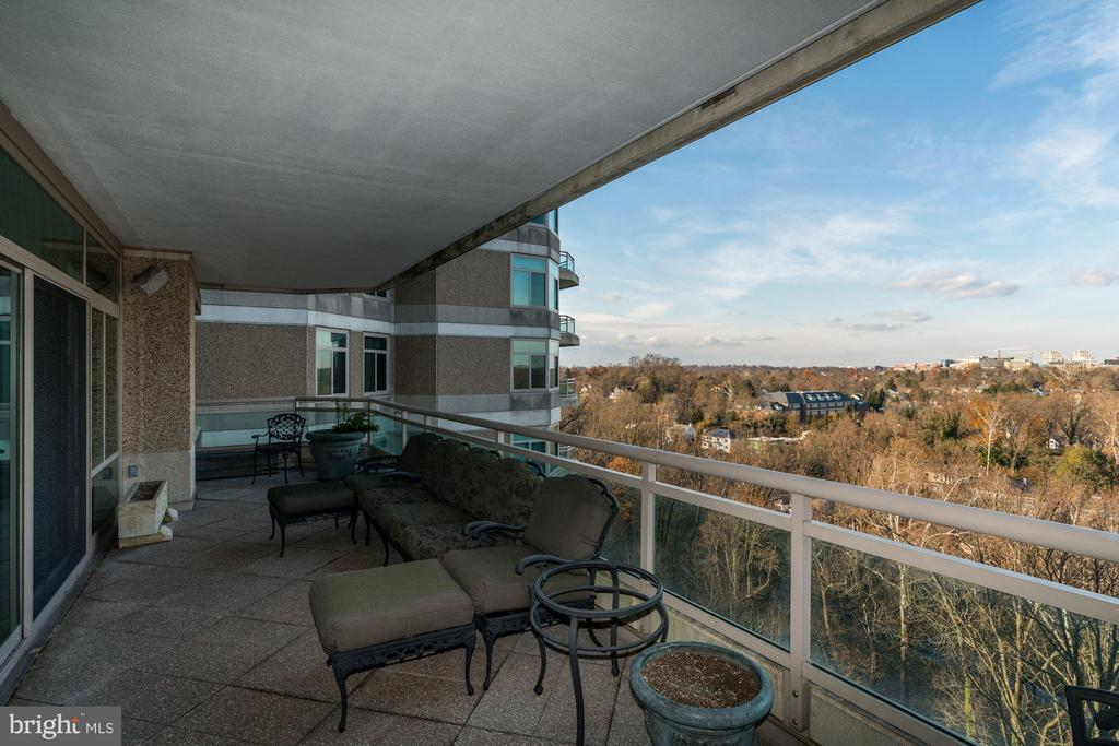 Balcony off Living Room - 5630 WISCONSIN AVE AVE #1403, CHEVY CHASE
