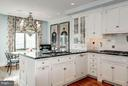 Kitchen with view of terrace - 5630 WISCONSIN AVE AVE #1403, CHEVY CHASE