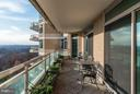 Balcony off Master Bedroom - 5630 WISCONSIN AVE AVE #1403, CHEVY CHASE