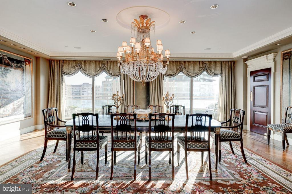 Dining Room with Balcony Access - 5630 WISCONSIN AVE AVE #1403, CHEVY CHASE