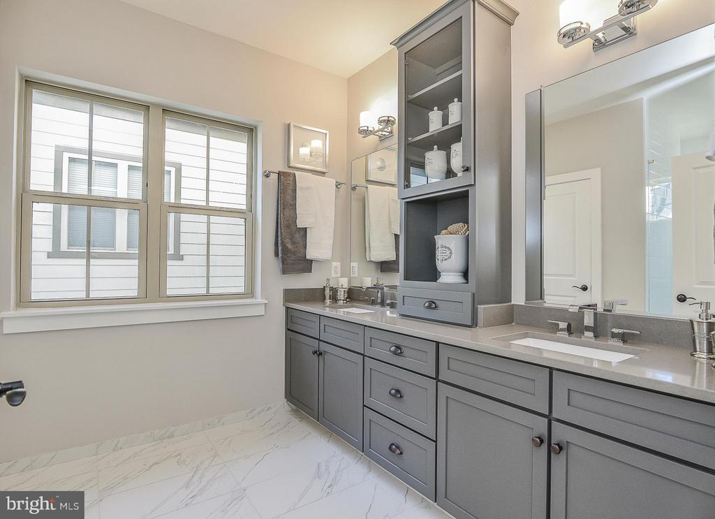 Double Vanity with Pier Cabinet & Quartz Counters - 6103 OLIVET DR, ALEXANDRIA