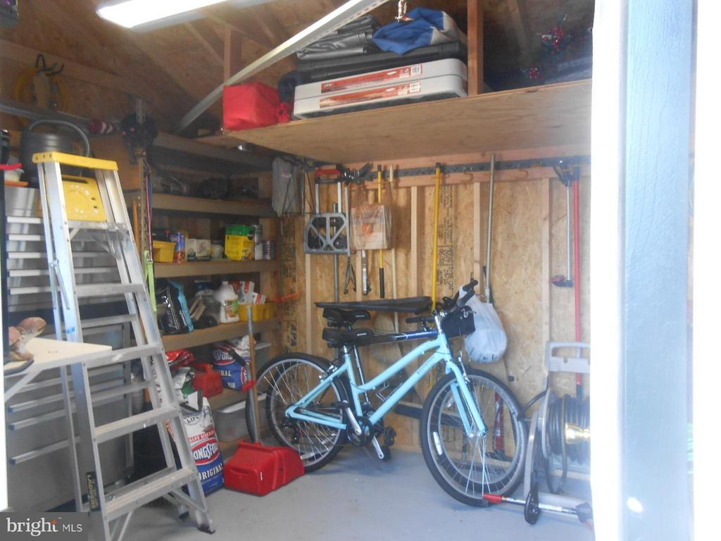 inside photo of shed - 9727 COBBLE STONE CT, HAGERSTOWN