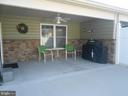 Covered back porch - 9727 COBBLE STONE CT, HAGERSTOWN