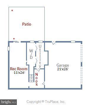 Basement Floor Plan - 39877 THOMAS MILL RD, LEESBURG
