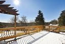 Large Deck off Family Room w/ amazing views - 39877 THOMAS MILL RD, LEESBURG