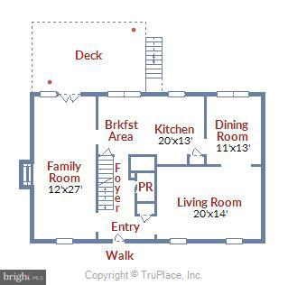 Main Floor Plan - 39877 THOMAS MILL RD, LEESBURG