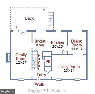 Main Floor Plan - 39877 THOMAS MILL RD, LEESBURG