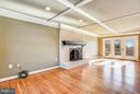 Large expanded Family rm w/ wood burning fireplace - 39877 THOMAS MILL RD, LEESBURG