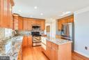 Kitchen with new granite counters - 39877 THOMAS MILL RD, LEESBURG