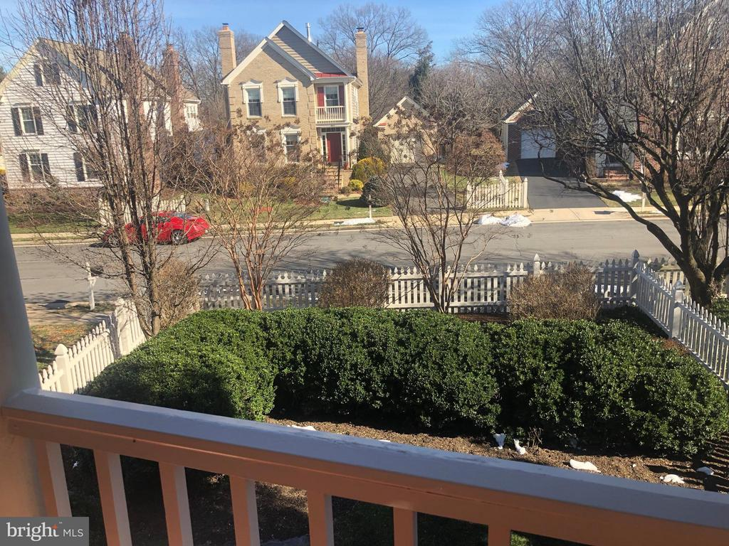 View from balcony off Master Bedroom - 6606 FORSYTHIA ST, SPRINGFIELD