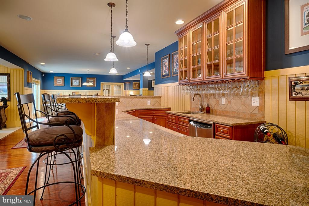 Built in bar with granite top and built -ins - 14786 BANKFIELD DR, WATERFORD