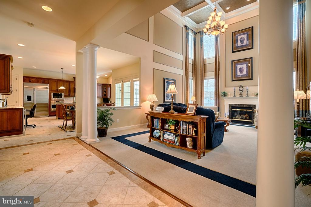 view to the kitchen from great room - 14786 BANKFIELD DR, WATERFORD