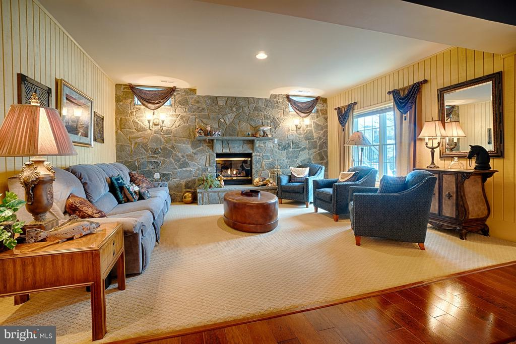 Lower Level sitting area with gas fireplace - 14786 BANKFIELD DR, WATERFORD