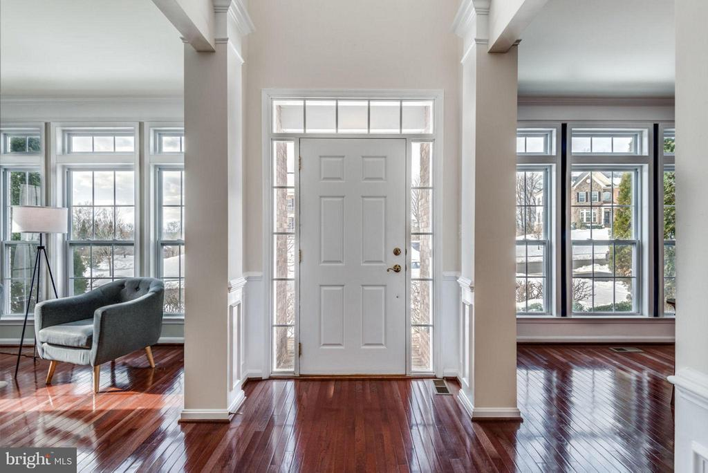 2-story entry welcomes guests. - 21584 BURNT HICKORY CT, BROADLANDS