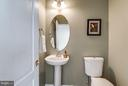 Convenient main level powder room. - 21584 BURNT HICKORY CT, BROADLANDS