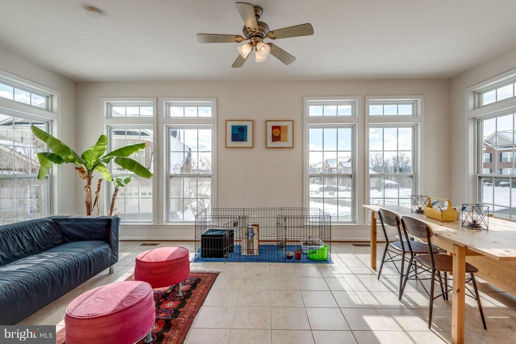 The light streams into this sunroom! - 21584 BURNT HICKORY CT, BROADLANDS