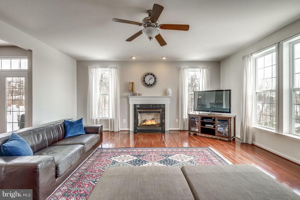 Stay cozy by the gas fireplace. - 21584 BURNT HICKORY CT, BROADLANDS