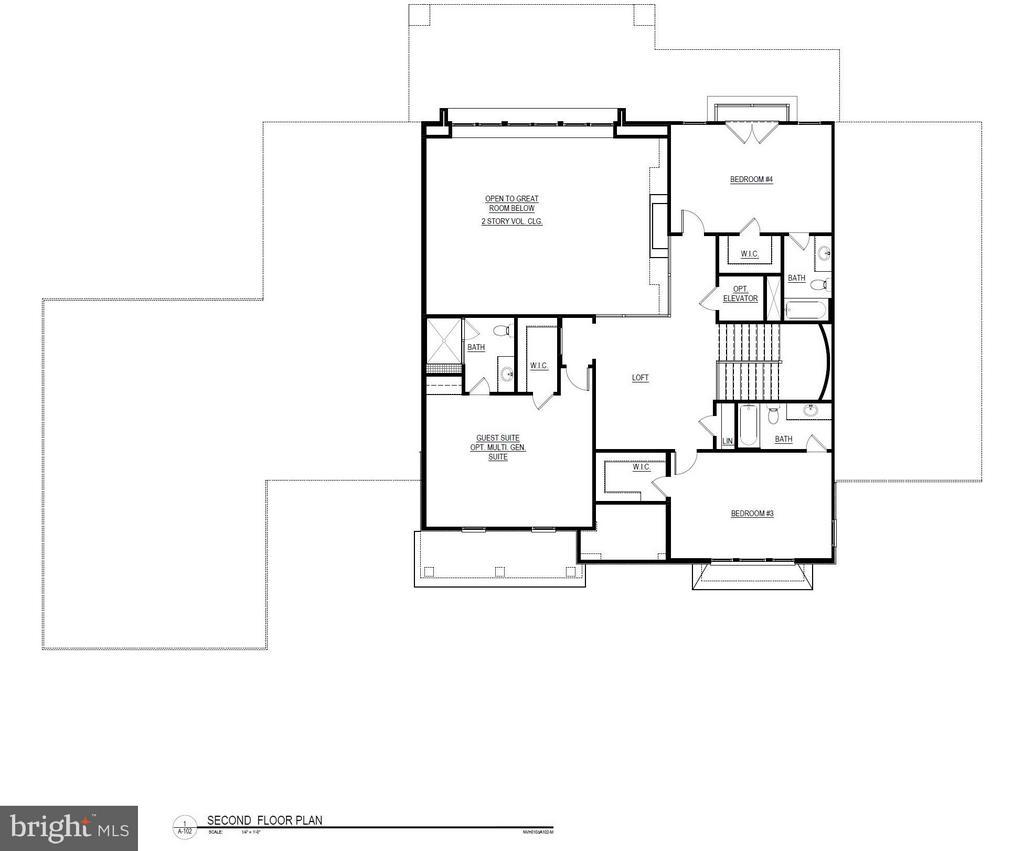 Second Level Floorplan - 22469 CREIGHTON FARMS DR, LEESBURG