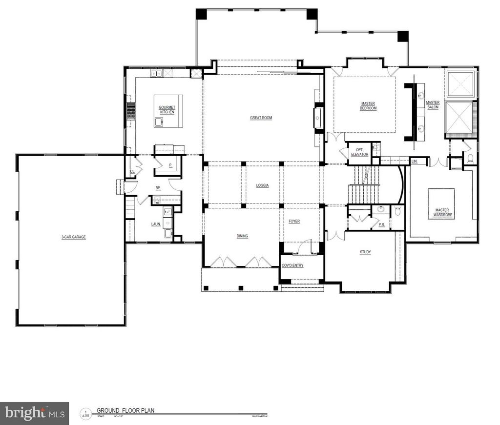 Main Level Floorplan - 22469 CREIGHTON FARMS DR, LEESBURG