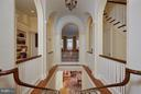 View from top of stairs to double hallway - 2019 Q ST NW, WASHINGTON