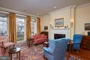 Living room with Fpl & ceiling height windows - 2019 Q ST NW, WASHINGTON