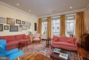 Living room with ceiling height windows - 2019 Q ST NW, WASHINGTON