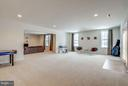 Lower level rec room with recessed lighting. - 21584 BURNT HICKORY CT, BROADLANDS