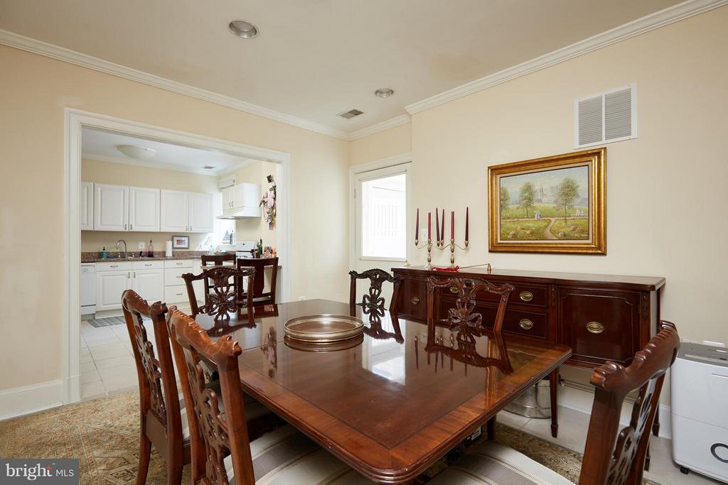 Apartment Dining Room on ground level - 2019 Q ST NW, WASHINGTON