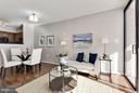 Living Room - very logical layout! - 1001 N RANDOLPH ST #106, ARLINGTON