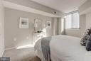 Bedroom - Receives an abundance of sunlight! - 1001 N RANDOLPH ST #106, ARLINGTON