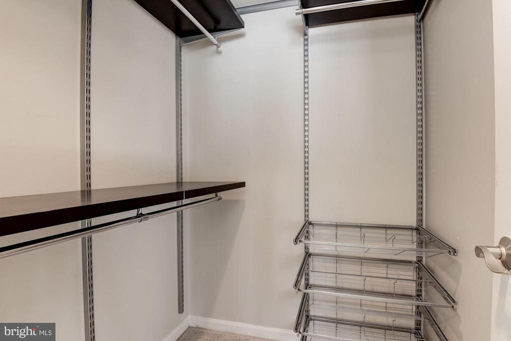 Walk-In Closet features Custom ELFA Closet - 1001 N RANDOLPH ST #106, ARLINGTON