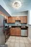 Kitchen with Custom Overhead Light Fixture! - 1001 N RANDOLPH ST #106, ARLINGTON
