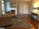 Very Spacious Living Room with FP - 11990 MARKET ST #405, RESTON