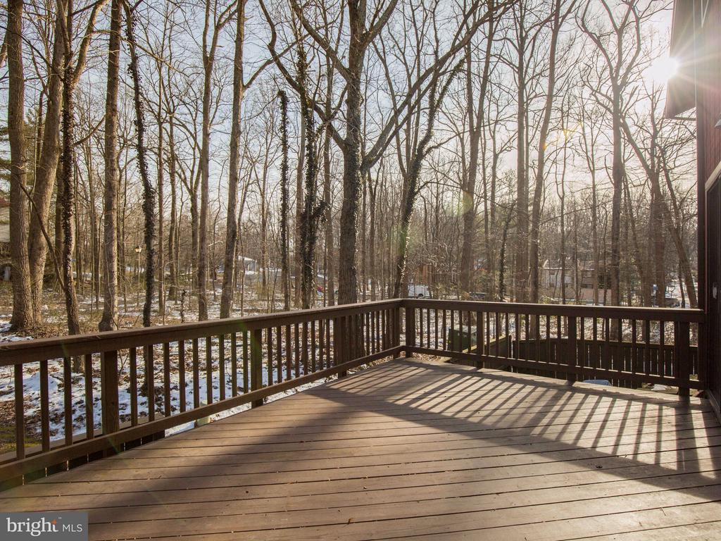 Large deck off of the family room - 2349 EMERALD HEIGHTS CT, RESTON