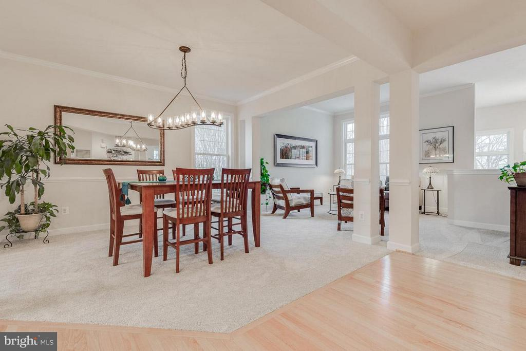 Formal dining with new carpet - 1644 CHICKASAW PL NE, LEESBURG