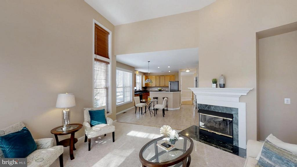 Family Room With Cozy Fireplace - 43205 EDGARTOWN ST, CHANTILLY