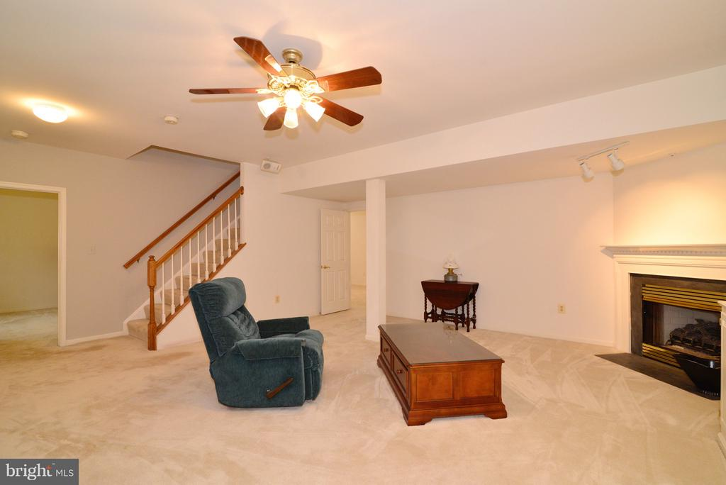 Family Room with Fireplace - 14405 VIRGINIA CHASE CT, CENTREVILLE