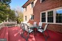 Rear Deck with Bench - 14405 VIRGINIA CHASE CT, CENTREVILLE