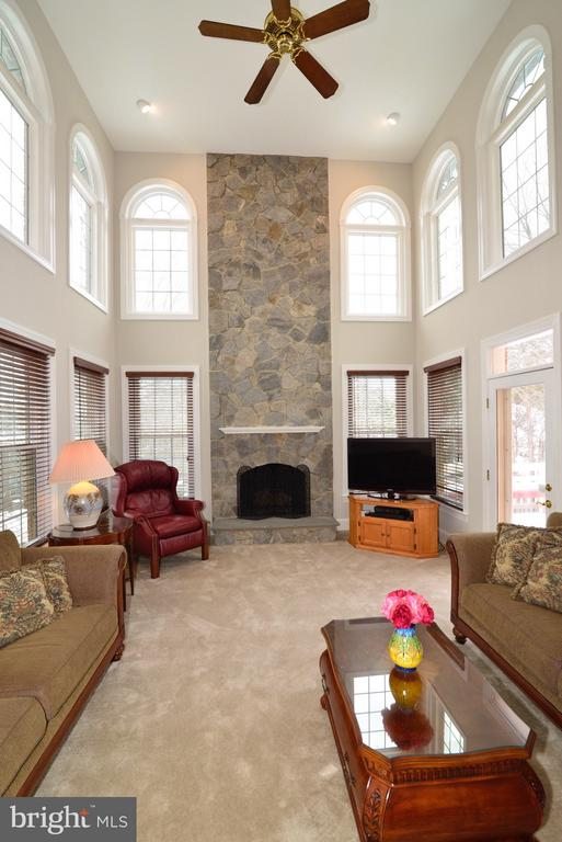 Family Room with Door to Rear Deck - 14405 VIRGINIA CHASE CT, CENTREVILLE