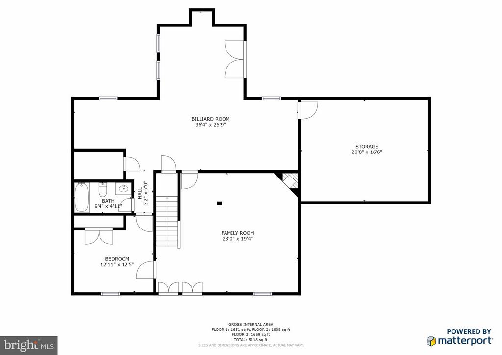 Lower Level Floor Plan - 14405 VIRGINIA CHASE CT, CENTREVILLE