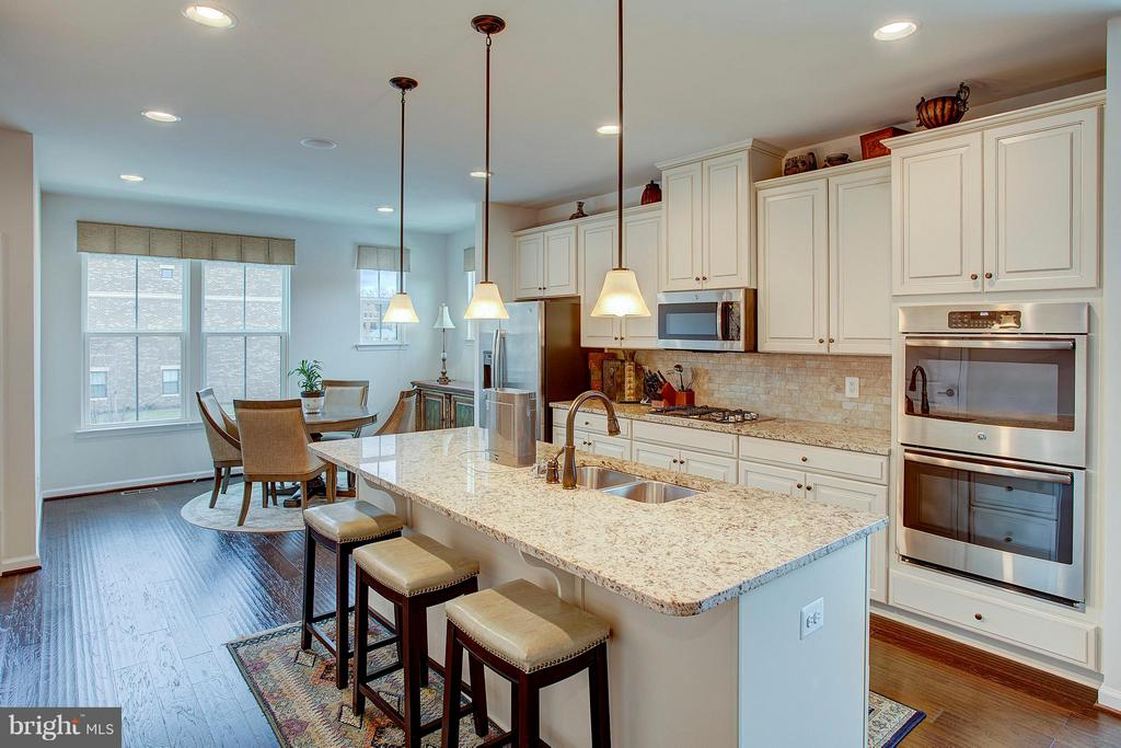 Amazing gourmet kitchen with all the upgrades - 22314 FOUNDATION DR, ASHBURN