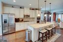 Kitchen island makes this the heart of the home! - 22314 FOUNDATION DR, ASHBURN