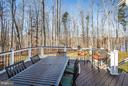 Large maintenance free deck overlooks Abel Lake - 98 GENEVIEVE CT, FREDERICKSBURG