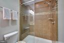 Custom, glass shower door in walk in shower - 9727 COBBLE STONE CT, HAGERSTOWN