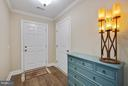 inviting foyer- with coat closet just inside door - 9727 COBBLE STONE CT, HAGERSTOWN
