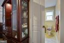 A space saving pocket door in the hall bath. - 9727 COBBLE STONE CT, HAGERSTOWN
